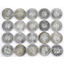 Lot (20) Canada Silver Dollar. Mixed Dates