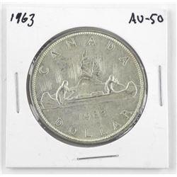 1963 Canada Silver Dollar. AU-50