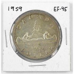 1959 Canada Silver Dollar. EF-45