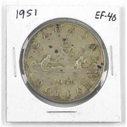 1951 Canada Silver Dollar EF-40