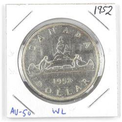 1952 Canada Silver Dollar. WL