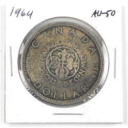 1964 Canada Silver Dollar. AU-50