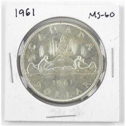 1961 Canada Silver Dollar. MS-60