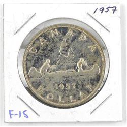 1957 Canada Silver Dollar. F-15