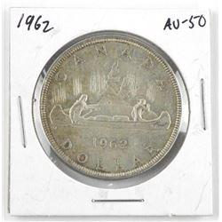 1962 Canada Silver Dollar. AU-50