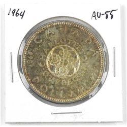 1964 Canada Silver Dollar. AU-55