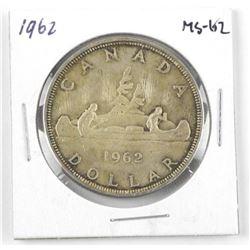 1962 Canada Silver Dollar. MS-62