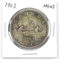 1963 Canada Silver Dollar. MS-63