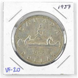 1957 Canada Silver Dollar. VF-20