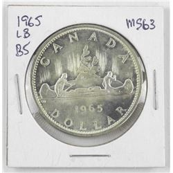 1965 Canada Silver Dollar.MS63. LB-B5