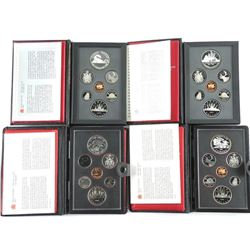 Lot (4) Proof Double Dollar Coin Sets: 1980, 1981,