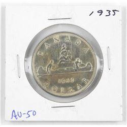 1935 Canada Silver Dollar AU-50