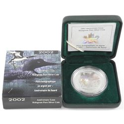 2002 .9999 Fine Silver Anniversary Loon Hologram 1