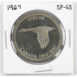 1867-1967 Canada Silver Dollar SP-63