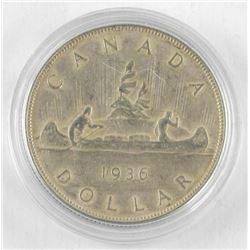 1936 Canada Silver Dollar Key Date