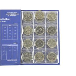 Lot (24) Canada Nickel Dollars - Unisafe