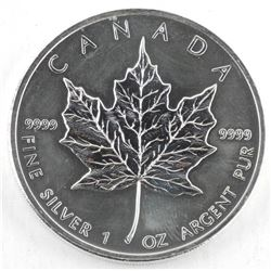 2011 .9999 Fine Silver $5.00 Coin - Maple Leaf 1oz
