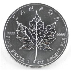 2011 .9999 Fine Silver 5.00 Coin Maple Leaf, 1oz A