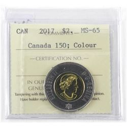 2017 Canada 2.00 MS65. Canada 150 - Glow in Dark.