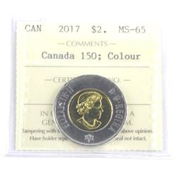 2018 Canada 2.00 MS65. Canada 150 - Glow in Dark.
