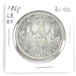 1965 Canada Silver Dollar. AU50. LB-B5