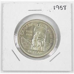 1958 Canada Silver Dollar Coin