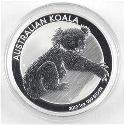 2012 .9999 Fine Silver Dollar Coin 'Australian Koa