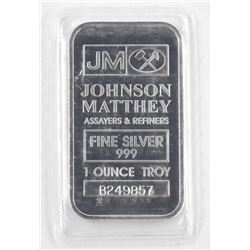 JM - .999 Fine Silver Bar 1oz. No Longer Produced.