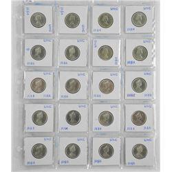 Lot (20) Canada Silver 25 Cent '1964-1965'