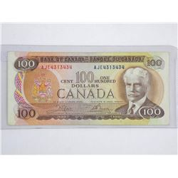 Bank of Canada 1975 - One Hundred Dollar Note. L/B