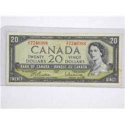 Bank of Canada 1954 - modified Portrait. Twenty Do