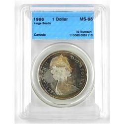 1966 Canada Silver Dollar MS-65. ICCS