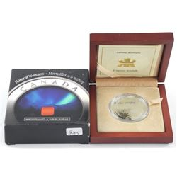 2004 .9999 Fine Silver $20.00 Coin 'Northern Light