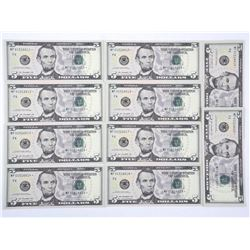 Lot (10) USA 2013 5.00 Choice UNC From Brick In Se