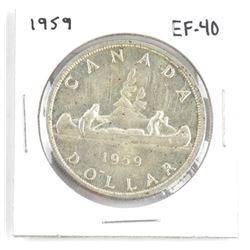 1959 Canada Silver Dollar. EF-40