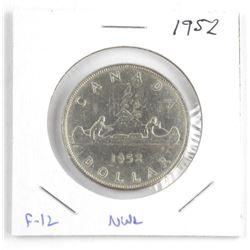 1952 Canada Silver Dollar. F-12. NWL