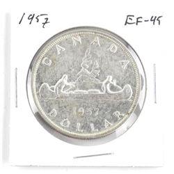 1957 Canada Silver Dollar. EF-45åÊ