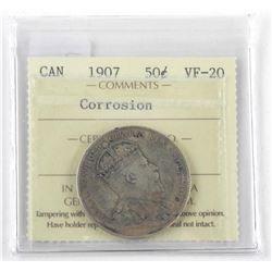 1907 Canada Silver 50 Cent (VF-20) (SXR)