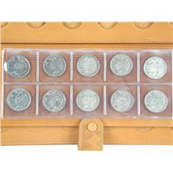 RCM - Leather Coin Wallet with 10 Canada Silver 50