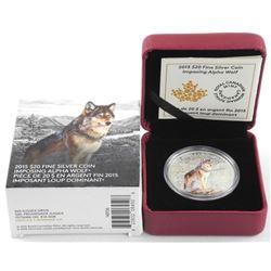 .9999 Fine Silver $20.00 Coin 'Alpha Wolf' (SXR)