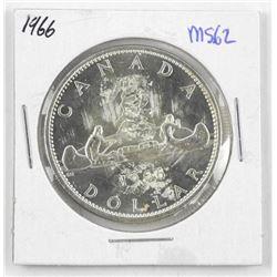 1966 Canada Silver Dollar Coin. MS62