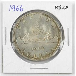 1966 Canada Silver Dollar Coin. MS60