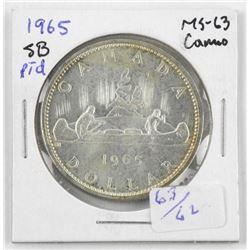 1965 Canada Silver Dollar MS63.Cameo SB Ptd 5