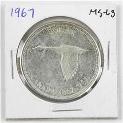 1967 Canada Silver Dollar MS63.