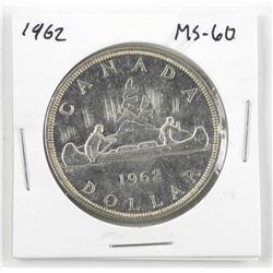 1962 Canada Silver Dollar. MS60