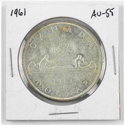 1961 Canada Silver Dollar. AU-58