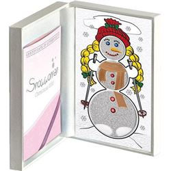 Snowwoman Heart Melting 3-Proof Coin .925 Sterling