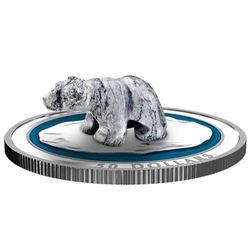 2018 $50 Soapstone Sculpture: Polar Bear - Pure Si