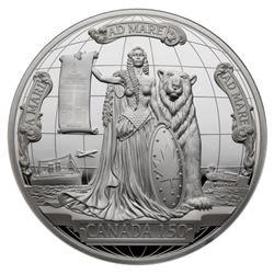 2017 Canada 150 Medal - 10 oz. Pure Silver Piece