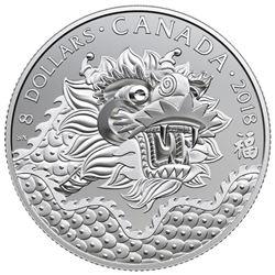 2018 $8 Dragon Luck - Pure Silver Coin